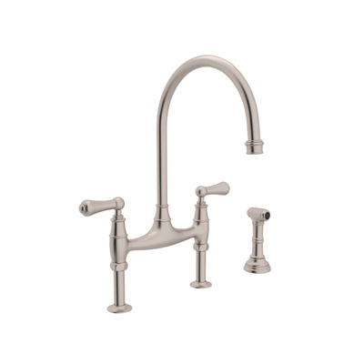 Rohl Perrin And Rowe Bridge Ionian Kitchen Faucet W Side