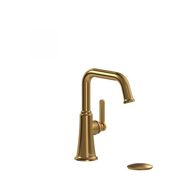 Riobel Momenti MMSQS01JBG Bathroom Faucet In Brushed Gold