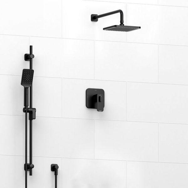 Riobel KIT#323EQBK EQUINOX Shower Kit in Black