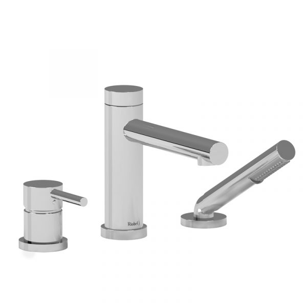 GS10 3-piece deck-mount tub filler with hand shower