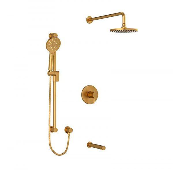 Riobel RIU KIT#1345RUTBG Brushed Gold Shower Kit