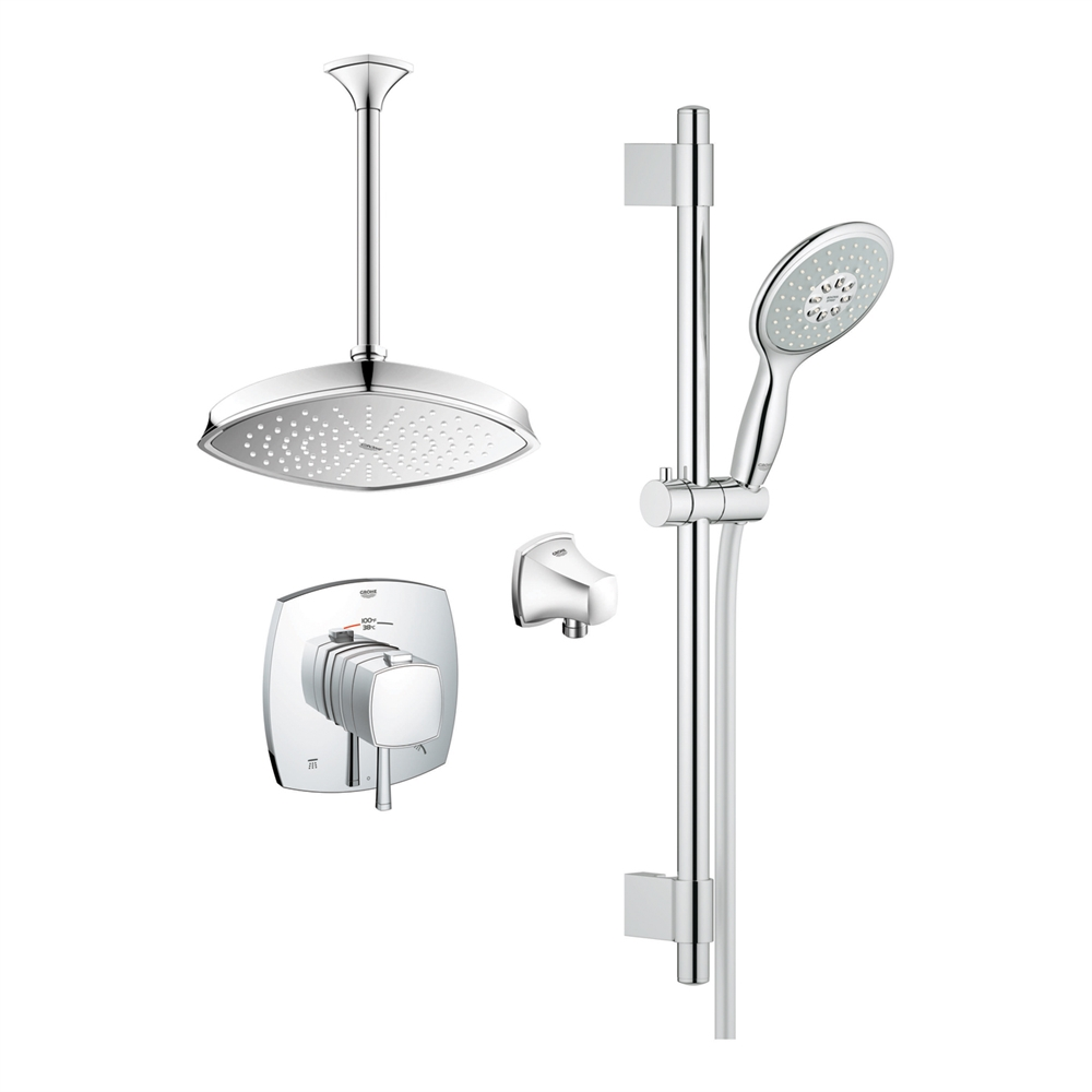 Grohe Timeless THM Dual Function Shower Kit 117161 in Chrome