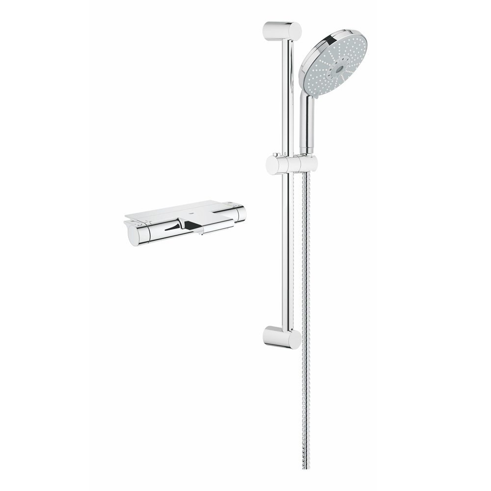 Grohe Exposed THM Single Function Shower Kit 117164 in Polished Chrome