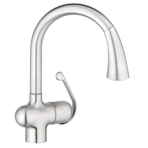 Grohe Ladylux Dual Spray Pull Out Kitchen Faucet 33755SD1