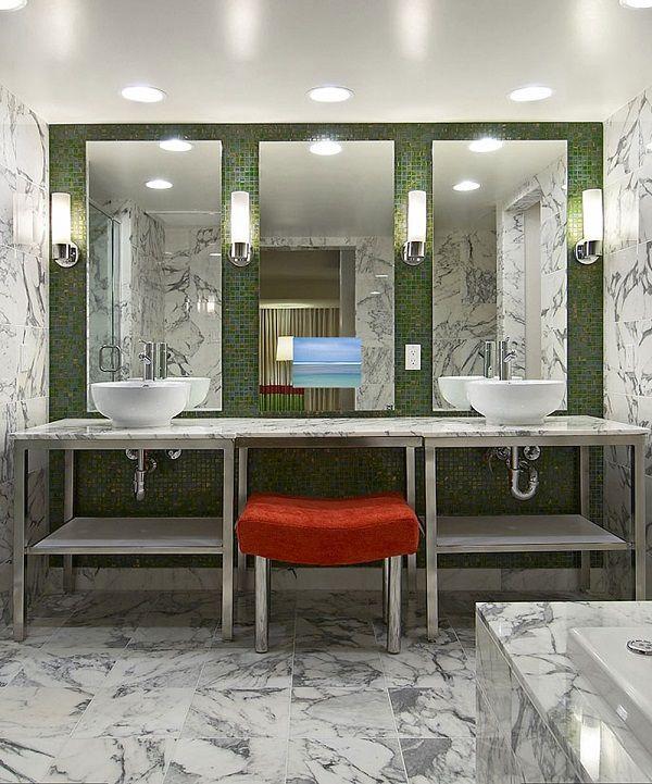 Loft Bathroom Mirror TV by Electric Mirror