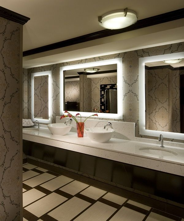 Silhouette Lighted Mirror - Electric Mirror