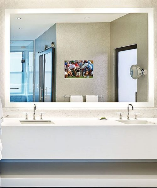 Silhouette Lighted Mirror TV By Electric Mirror