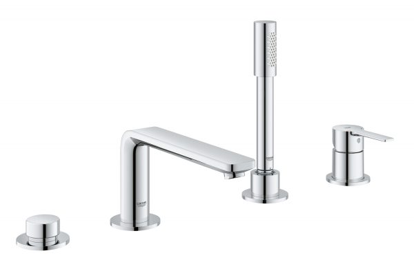 Grohe lineare four-hole bathtub faucet 19577001 with handshower