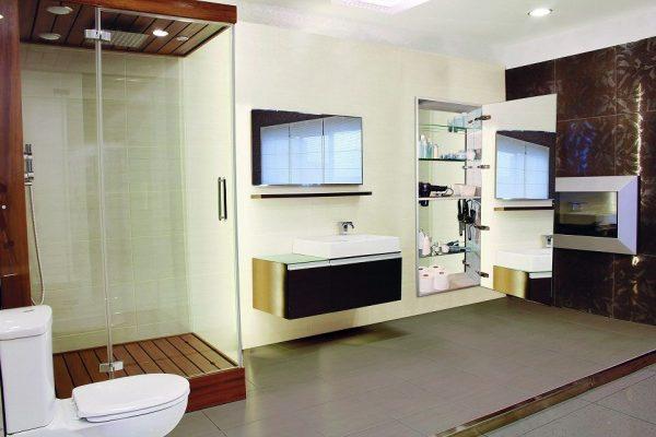Sidler Tall Mirrored Bathroom Medicine Cabinet