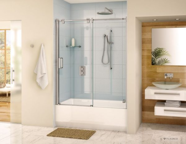 Fleurco Glide Tub Enclosure Sliding Door And Panel