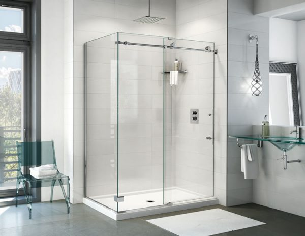 Fleurco K2 2 Sided CW 79″ H Sliding Door And Fixed Panel