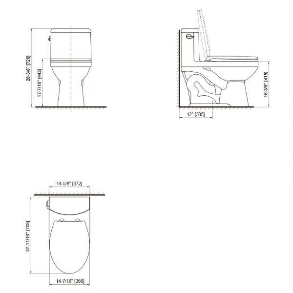 Axent W376-1231-U1 Annie One-Piece Toilet