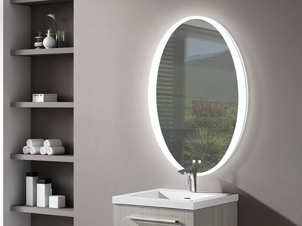 Twilight illuminated Slique Mirror