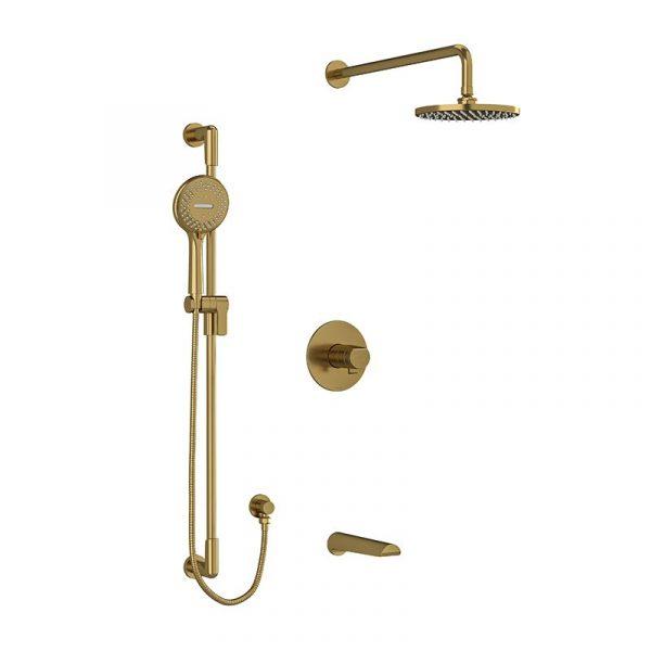 Riobel KIT1345PBBG Parabola 3-way Shower System