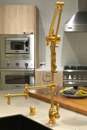 """Waterstone 4410-18 Gantry Traditional Pulldown Faucet – 18"""" Articulated Spout"""
