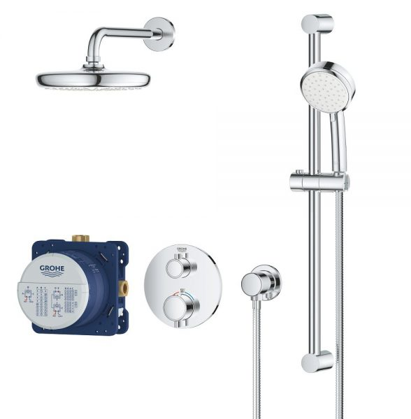 Grohe 34745000 Grohtherm Thermostatic Shower Kit