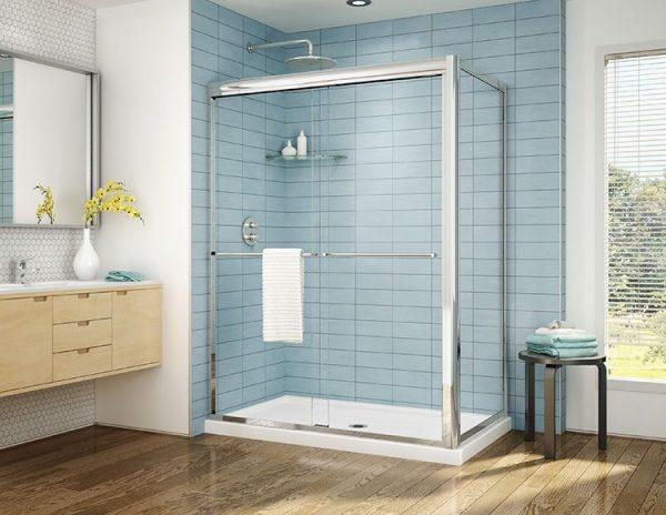 Fleurco Cordoba Plus Bypass Shower Door Chrome