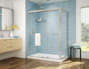 Fleurco Cordoba Plus Bypass Shower Door Chrome Brushed Nickel