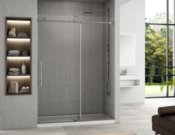 Fleurco K2A57-35-40 SELECT K2 In-line Shower Door Polished Stainless