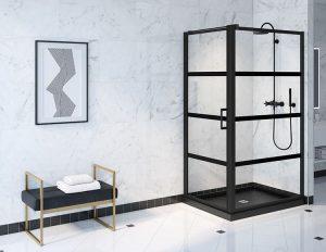 Fleurco Corner Shower door LAPC3648-33-43-79
