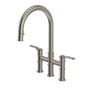 Rohl U.4549HT-STN-2 Armstrong Bridge Kitchen Faucet