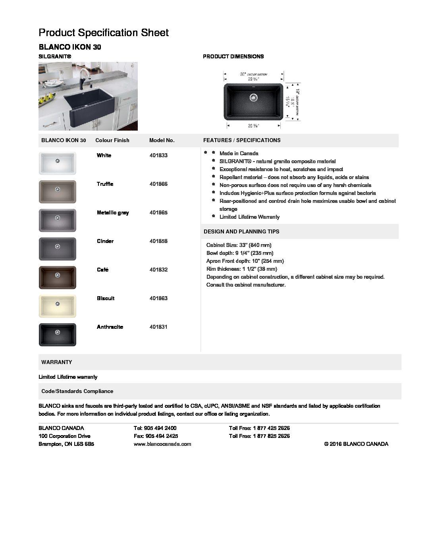 Blanco Kitchen Sink IKON 30