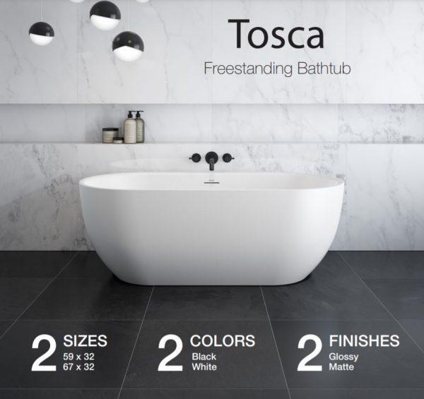 Maax Tosca 106878 Freestanding Bathtub