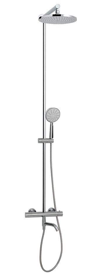 Aquabrass 62335PC Tila Thermostatic Tub/Shower Column