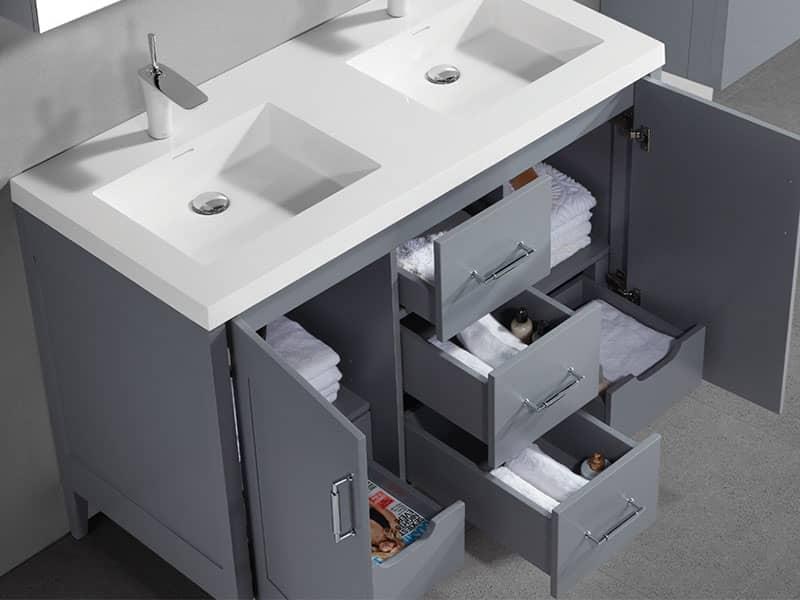 Madeli B710 48d 001 Encore 48 Inch, Double Sink 48 Inch Bathroom Vanity